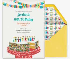 free kids birthday invitations