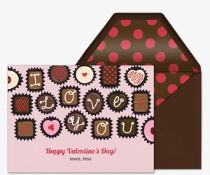 Box of Chocolates Card Invitation