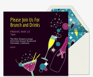 Chicks and Cheers Invitation