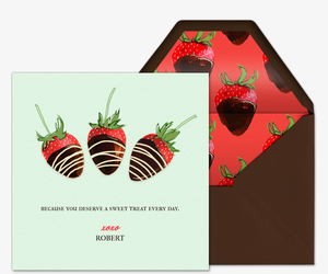 chocolate strawberries invitation
