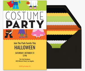 Costume Party Invite Invitation