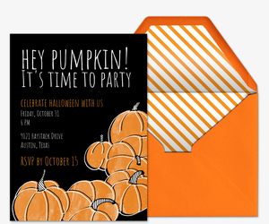 Pumpkin Patch Invitation