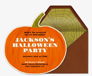 happy pumpkin invitation - Evite Halloween Party