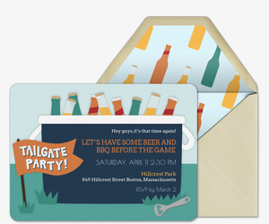 Tailgate Cooler Invitation