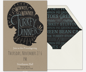 Turkey Dinner Invitation