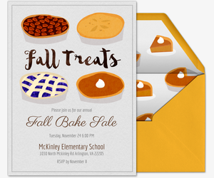 Fall Bake Sale Invitation