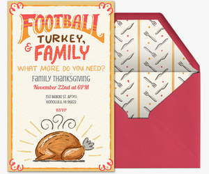 Turkey Bowl Invitation