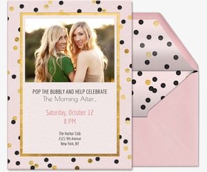 Pop The Bubbly Invitation
