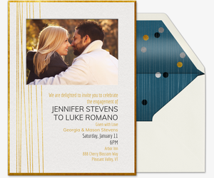 Engagement party invitations elegant engagement invitation stopboris Gallery