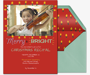 Merry And Bright Invite Invitation