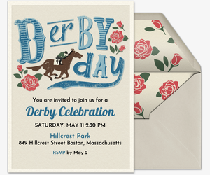 Derby Day Invitation