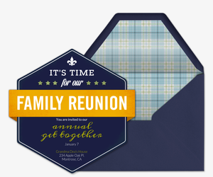 Family Reunion Crest Invitation