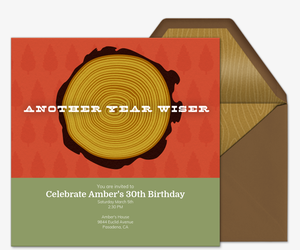 Tree Rings Invitation