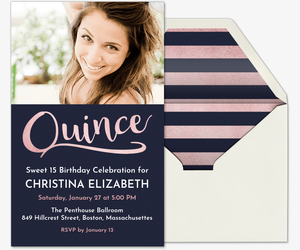 Rose Gold Quince Invitation