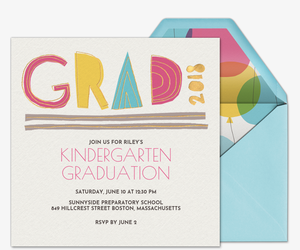 2018 Grad Cutout Invitation