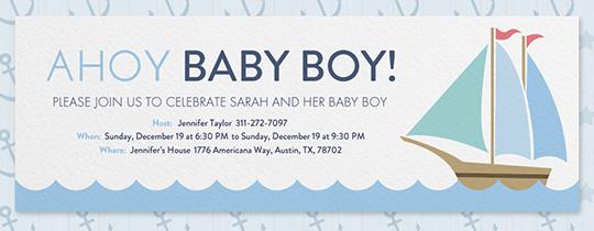 ahoy baby shower invitation
