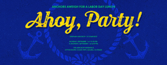 Ahoy Party Invitation