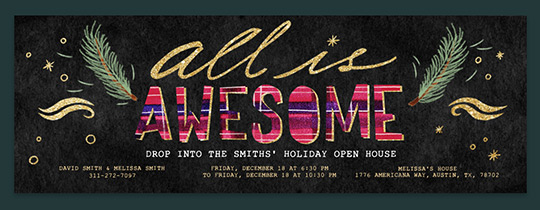 All is Awesome Invitation