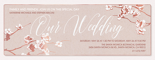 Apple Blooms Wedding Invitation