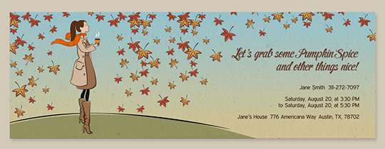 Autumn Latte Invitation