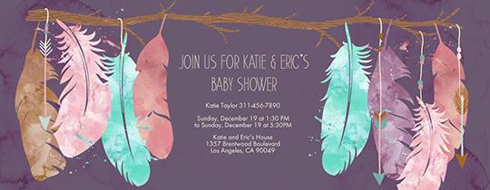 Baby Boho Invitation