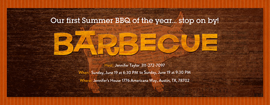 Barbecue Block Invitation