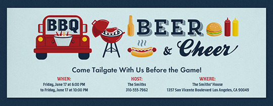 BBQ Beer Cheer Invitation