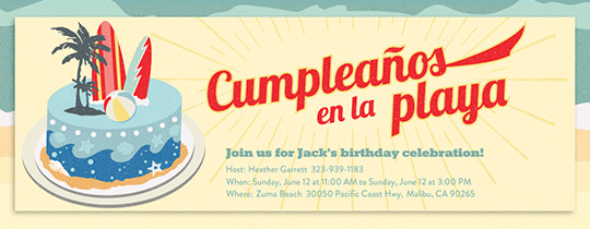 Invitations Free ECards And Party Planning Ideas From Evite - Birthday party invitation in spanish