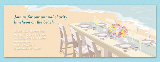 Beach Event Tables Invitation