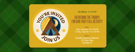 Be Prepared Invitation