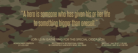 Bigger Than Camo Green Invitation