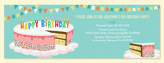 Birthday Cake Sprinkles 2 Invitation