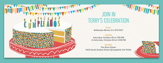 Birthday Cake Sprinkles Invitation