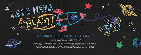 Blast to School Invitation