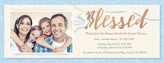 Blessed Easter Invitation