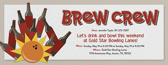 Brew Crew Invitation