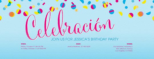 Celebracion Confetti Invitation