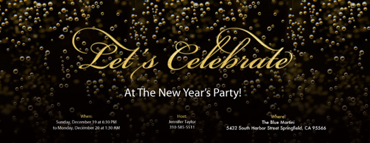 Free New Years Eve Party Invitations