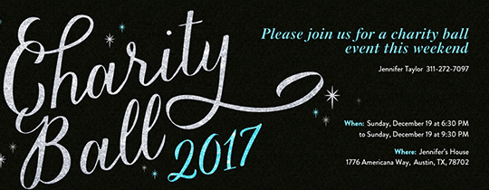 Charity Ball 2017 Invitation