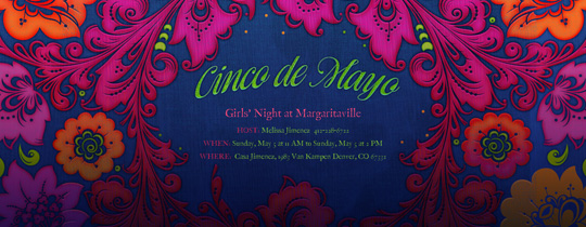 Cinco Florals Invitation