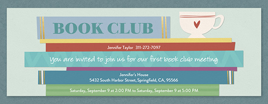 Coffee Book Club Invitation