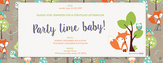 Online baby shower invitations evite party time baby invitation filmwisefo Choice Image