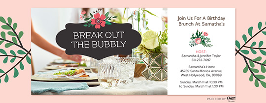 Break Out The Bubbly Invitation