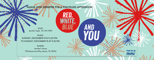 Red, White, Blue and You Invitation