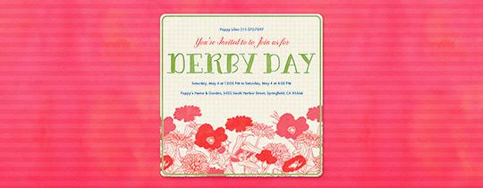Derby Day Flowers Invitation