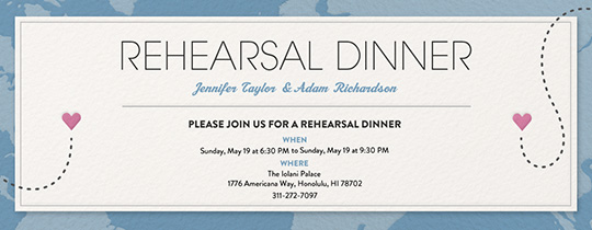 Destination Rehearsal Invitation