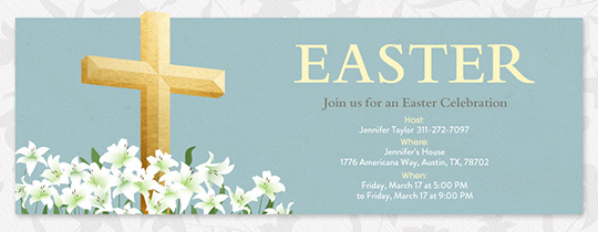Easter Cross Invitation