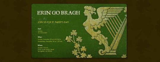 Erin Go Bragh Invitation