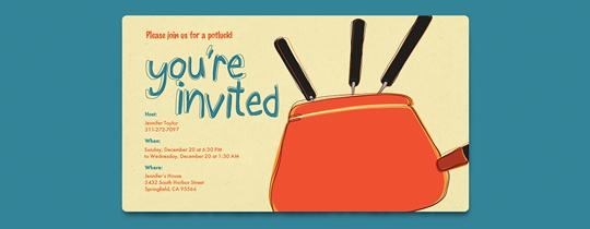 Fondue Invitation