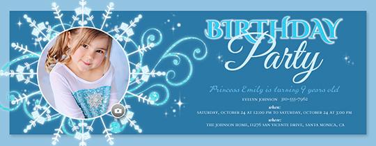 Frozen Birthday Invitation Free